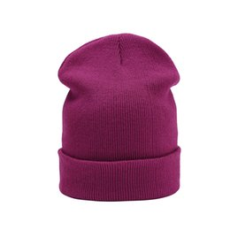 70d0a46d254ee Wholesale Cashmere Hats For Men UK - Knitted Skullies beanies women winter  beanie hat female warm