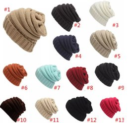 909ddbf3cfe 2018 knit stocking caps DHL IN STOCK! Hot Solid CC slouch Beanie for Adults  CC