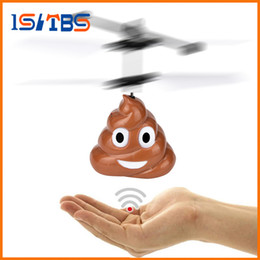 toy helicopter induction Australia - 2018 Hot Sale Hand Flying Poop Ball Mini Drone Induction Suspension RC Aircraft Flying Toy Helicopter