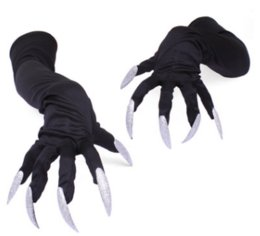 long finger nails Australia - Long nail gloves. Hollowen cosplay prop suit. Paw performance sleeve.Skeleton glove