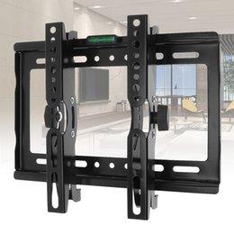 Evrensel 45 KG Ayarlanabilir TV Duvar Montaj Dirseği Düz Panel TV Çerçeve için 14-42 Inç LCD LED Monitör Düz Pan HMP_60O indirimde