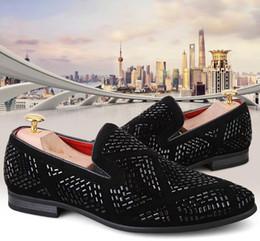 Mens Black Casual Dress Shoes Canada - Men Glitter Shoes New Mens Fashion Casual Flats Men's Designer Dress Shoes Sequined Loafers Men's black crystal Shoes38-43n41