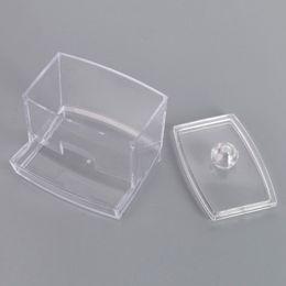 $enCountryForm.capitalKeyWord Canada - Clear Cotton Swabs Stick Storage Holder Box Case - Transparent Cosmetic Makeup Acrylic Organizer Case High Quality