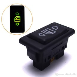 12v Auto Button Power Window Switch For All Cars With Led Green Light Button Switch Car Auto Replacement Parts