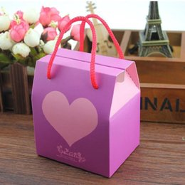 Boda De Los Regalos Baratos-Sweet Love Gift Candy Bomboniere Baby Shower Favor del banquete de boda Bolsa Casamento Party Decoration 9 * 10.5 * 7cm ZA5567