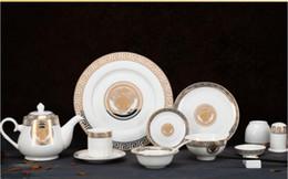 Ingrosso 8 pezzi / set Piatto di frutta rotondo creativo Piatti in ceramica HomeHotel Piatti Piatti Stoviglie regalo