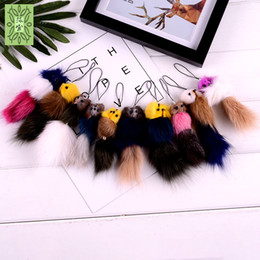 $enCountryForm.capitalKeyWord NZ - Korean version of cute mink fur fox tail bag pendant mobile phone key chain pendant accessories wholesale