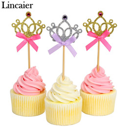 939c2143 Lincaier 10 Piece Pretty Princess Crown Cupcake Topper Wedding Birthday  Decorations Kids Baby Shower Boy Girl Party Supplies
