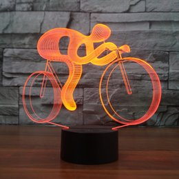 $enCountryForm.capitalKeyWord Canada - 7 Color Changing Visual Riding Bike 3D LED Table Lamp Usb Night Light Bicycle Lighting Fixture For Children Gifts Wholesale Dropshipping