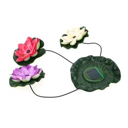 Chinese  Solar Powered LED Floating Lotus Light Night Flower Lamp for Pond Fountain Garden Pool manufacturers
