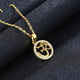 Gold Pendants Charm Wholesale Australia - 2018 New Multi Style Sun Shape Arabic Women Gold-color Muslim Islamic God Charm Pendant Necklace Jewelry Ramadan Gift Birthday