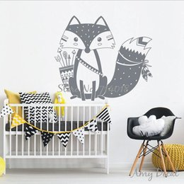 Removable wall stickeRs foR childRen online shopping - Wall Paster Children Lovely Woodland Fox Home Decorate Stickers Wedding Ceremony Party Supplies Mural Pure Color yy bb