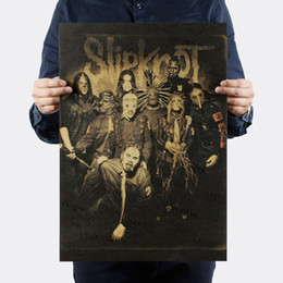 $enCountryForm.capitalKeyWord UK - Slipknot Heavy Metal ROCK BAND kraft paper bar poster Wall stickers Retro Poster decorative painting 51x35.5cm