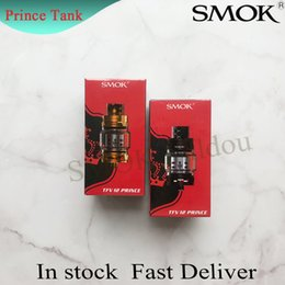 prince glasses NZ - 100% Original SMOK TFV12 Prince Cloud Beast Tank 8ml Big Capacity Top Filling Atomizers With Bulb Glass Tube Genuine Smoktech DHL Free