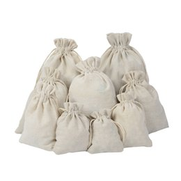 Chinese  Luxury Jewelry Linen Drawstring bags pouch 8x10cm 9x12cm 10x15cm Wedding Party Favor holder Cotton Gift Packaging Bag manufacturers