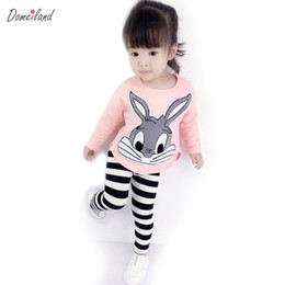 $enCountryForm.capitalKeyWord UK - 2017 Autumn Domeiland Cute Children 'S Clothing Princess Outfits Clothes Sets for Kids Girl Cotton Cute Rabbit Sweater Stripe Pant Suit