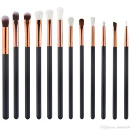 create hair NZ - Create Your Own Brand 12Pcs wood makeup brush set 12 pieces Eyeshadow Eye Shadow Makeup Brush cosmetic eye brush set Make Up Brushes