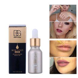 Nail glaziNg online shopping - DHL free BEAUTY GLAZED NEW k Rose Gold Elixir Radiating Moisturizer Face Care Essential Oil Makeup Primer Makeup Base