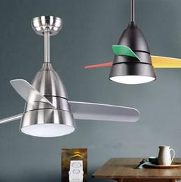 Nickel Fan Australia - 36inch kid ceiling fan light Children room fan light with remote controller fashion modern ceiling lights