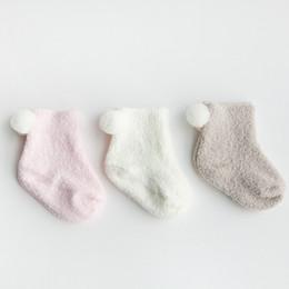 Boys Toddlers Socks NZ - 3 Pair Pack Unisex Lovely Cute Kids Baby Socks Girl Boy Baby Toddler Solid Soft Socks Y13