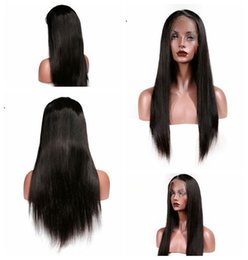 China Cheap Natural Black Long Silky Straight Full Lace Wigs with Baby Hair Heat Resistant Glueless Synthetic Lace Front Wigs for Black Women cheap blonde hair for cheap suppliers