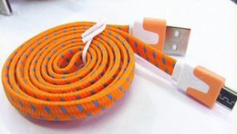 Usb noodle wire online shopping - 10FT ft FT Noodle Flat Braid Charging Cord Sync Fabric TYPE C Micro Wire USB Data Cable Line Samsung S8 S7 HUAWEI free DHL