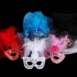 $enCountryForm.capitalKeyWord Australia - Sexy Veil Feather Mask Women Girls Princess Bar KTV Nightclub Disco Ball Masks Masquerade Party Supplies