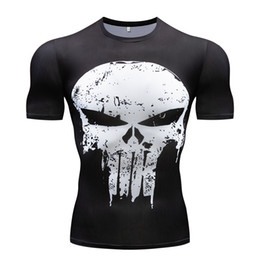 China Gyms men's t-shirt Summer Fitness 3D T Shirt Role Playing Compression Shirt Fitness Slim Tops Men's work out clothing cheap gym clothes wholesale suppliers
