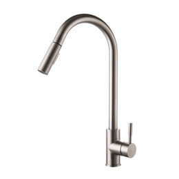 $enCountryForm.capitalKeyWord UK - KES LEAD-FREE SUS 304 Stainless Steel Pull Down Kitchen Faucet Mixer Tap with Pull Out Sprayer Swivel High Arc Spout, Brushed