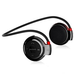 micro headphones wireless 2019 - Wireless Earphone Mini Stereo Headphone Sports Ear Hook Bluetooth Headset MP3 Player Support Micro SD TF + FM Radio chea