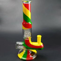 $enCountryForm.capitalKeyWord Australia - Colorful glass Bong Dab Rig glass Water Pipe Straight Tube Bubbler Pipes Smoking Dabber Heady Oil Rigs hookah smoking pipe
