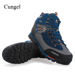 d091336eb703 Cungel Sneakers men Autumn Winter Outdoor Hiking shoes Breathable  Waterproof Anti-skid Trekking boots Mountain Climbing shoes outdoor hiking  boots ...