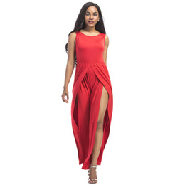 9e94f49c98d Plus size 3XL Sleeveless wide leg jumpsuit women romper 2018 summer o neck  tank loose large size tunic party club wear overalls