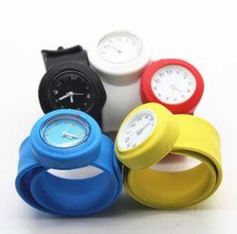 $enCountryForm.capitalKeyWord NZ - New Boy Girl Kids Slap Jelly Candy Watches Round Silicone Baby Slap Watch Children Quartz Clock Kids Toy Birthday Gift Wristwatch