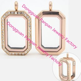 $enCountryForm.capitalKeyWord Australia - Fashion Jewelry Pendants Carvort jewelry! Rose Gold Heritage living locket 316L stainless steel floating memory locket