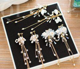 $enCountryForm.capitalKeyWord NZ - The bride grows flowers, earrings, wedding gauze, dress, temperament, pendant, earrings accessories.