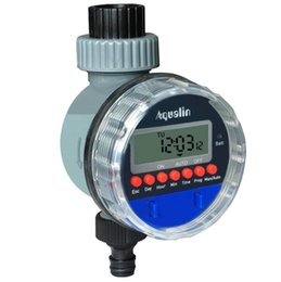 Pantalla LCD electrónica automática Válvula de bola del hogar Temporizador de agua Temporizador de riego del jardín Sistema de controlador de riego Envío gratuito