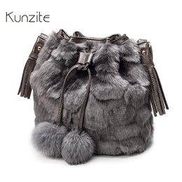$enCountryForm.capitalKeyWord Canada - KUNZITE Leopard Bucket Bags for Women 2018 Winter Ladies Casual Shoulder Crossbody Bag Warm Messenger Sling Bag for Fashion Girl