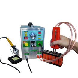 Spot welder welding online shopping - 4 IN1 Double LED Moveable Mig Pulse Battery Spot Welder AD with Soldering Iron Station for Welding different Nickle Material