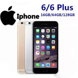 Wholesale fingerprint gold resale online - Original Refurbish Apple iphone6 iPhone i6 GB Unlocked Mobile Phone Dual core iOS System With Real Fingerprint G LTE Smartphone