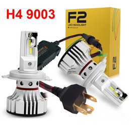 bright led headlight bulbs Canada - 1 Set H4 9003 HB2 F2 LED Headlight Headlamp 72W 12000LM FLIP Chips Turbo Fan 6K White Perfect Design More Bright Hi Low Car Bulb