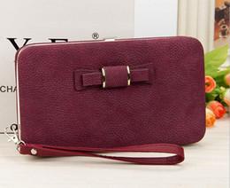 Discount dress buy - Best buy elegant purple Fresh lady handbag Women Wallets causal Design Top PU Leather Wallet Female Long Women Wallets p