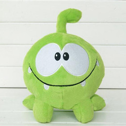 Figures Australia - 20cm Kawaii om nom Frog Plush Toy Cut the Rope Soft Rubber Figure Classic Game Toys Lovely Gift Doll for kids LA104