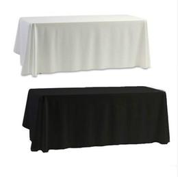 Белая черная настольная обложка для банкета Свадебный декор 145x145cm Обычная окрашенная домашняя отделка
