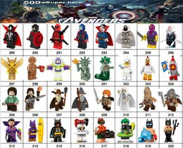 Marvel Blocks Figure Canada - Wholsale Super hero Mini Figures Marvel Avengers DC Justice League Wonder woman Harlry Quinn Black Panther building blocks kids gifts