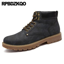 boot red platforms 2018 - Short Designer Shoes Men High Quality Lace Up Ankle Waterproof Fall Work Working Boots Italian Platform Safety Black Boo