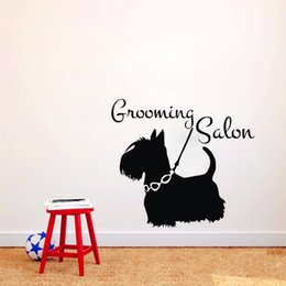 $enCountryForm.capitalKeyWord NZ - Grooming Salon Dogs Wall Stickers Home Decorations Pet Shop Wall Decals Animals Vinyl Wall Mural