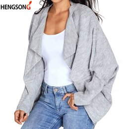 $enCountryForm.capitalKeyWord NZ - Girl Casual Long Knitted Cardigan Autumn Korean Women Coat Loose Solid Color Pocket Design Sweater Jacket Red Black Gray