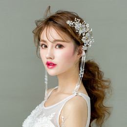 $enCountryForm.capitalKeyWord NZ - TANGTANG New Fashion Handmade Luxury Bridal Jewelry Hairwear Flower Pearl Hair Comb For Wedding Party Bridal Jewelry Sets