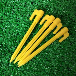 Wholesale Beach Tent Peg Nail Stake with Rope Camping Equipment Outdoor cm Traveling Tent Nail Building Outdoor Gadgets DHL